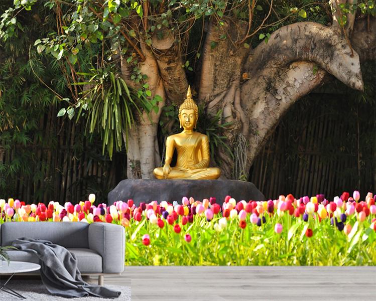 Buddha Garden Wallpaperwalaa Com