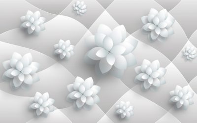 3D flower-8 for walls