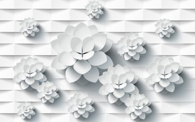 3D flower-9 for walls